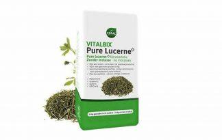 De Vitalbix Pure Lucerne+ is een luzerne van hoogwaardige kwaliteit. Hij bevat 3% lijnzaadolie zonder melasse of andere toevoegingen.