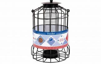 Buzzy Bird Gift Cage Feeder pinda is een speciale voederhouder waar grote vogels niet bij kunnen komen.