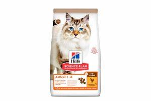 Hill's Science Plan Feline Adult No Grain Kip bevat geen gluten of granen waardoor deze voeding geschikt is voor alle katten. Speciaal voor katten met een glutenallergie. De kip geeft een heerlijke smaak wat de maaltijd tot een feestje maakt! Ook dient kip als bron van hoogwaardige eiwitten. Daarnaast voorziet het compleetvoer van Hill's uw kat van waardevolle omega-vetzuren en vitamine E.