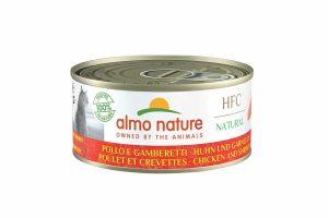Almo Nature HFC - kip met garnalen is een heerlijke natvoeding volgens het bekende en traditionele receptuur van Almo Nature. Katten zijn van nature vleesetende roofdieren.