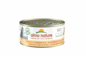 Almo Nature HFC - tonijn met garnaaltjes is een heerlijke natvoeding volgens het bekende en traditionele receptuur van Almo Nature.