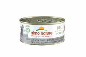 Almo Nature HFC - tonijn met jonge ansjovis is een heerlijke natvoeding volgens het bekende en traditionele receptuur van Almo Nature.