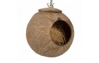 Creëer op een natuurlijke manier een leuke speel- of schuilplek in de volière. Daarnaast is het ook leuk om snacks in te verbergen!