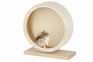 Kerbl houten hamster looprad voorkomt verveling in het verblijf van uw huisdier. Het looprad is gemaakt van degelijk hout. Daarnaast is de binnenzijde voorzien van een loopvlak met kurk, waardoor de nagels worden beschermt.
