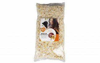 De Duvoplus Rice'Up Mediterranean is een gebruiksklare natuurlijke topping voor elk hondenmenu. Deze gepofte rijst met groenten is vetarm, licht verteerbaar en brengt elke voeding in balans.