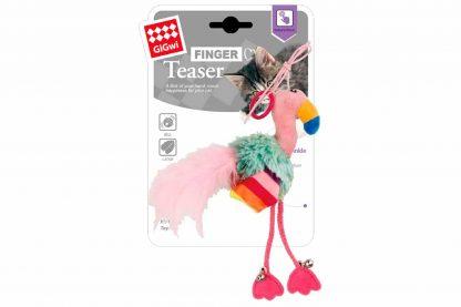 Het GiGwi Finger Teaser kattenspeeltje Flamingo is perfect om de band tussen kat en baas te versterken! Wanneer je het ringetje aan het einde van het touwtje om je vinger doet, bepaal jij waar de flamingo naar toe gaat.