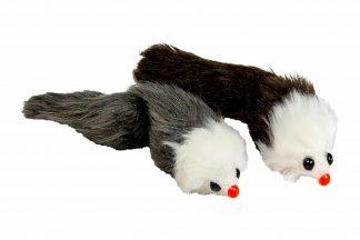 Het Jack & Vanilla kattenspeeltje lange muis is gemaakt van zacht en bewegelijk materiaal, waardoor het de aandacht trekt van katten. Deze muisjes zijn extra lang, waardoor je leuk samen met jouw kat kan spelen.