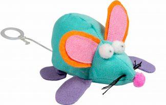 Het Jack & Vanilla kattenspeeltje Vibrerende Muis zorgt ervoor dat jouw kat zich geen moment verveelt. Wanneer je aan het touwtje trekt gaat de muis vibreren en is daardoor heel interessant voor jouw huisdier.