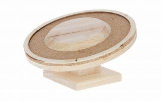 Het Kerbl houten hamsterwiel voorkomt verveling in het verblijf van jouw huisdier. Het looprad is gemaakt van degelijk hout. Het loopvlak is bekleed met kurk, waardoor de hamster veel grip heeft.