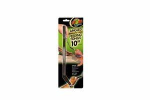 De ZooMed Angled Stainless Steel Feeding Tongs is een roestvrijstalen voederpincet voorzien van een gebogen en zachte punt, waardoor je nog gemakkelijker jouw dier kan voeren.