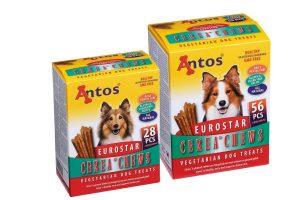 De Antos Cerea Eurostar Small is het perfecte tussendoortje voor jouw trouwe viervoeter, doordat deze snack 100% natuurlijk is! Voorzien van een geweldige smaak en ook nog eens gluten- en suikervrij.