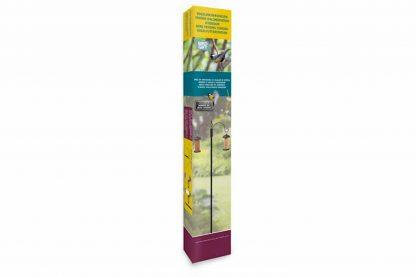 De voederstation met 2 feeders is een mooi ornament in je tuin. De decoratieve dubbele feederhaak wordt compleet geleverd met een zaadfeeder en pindafeeder. De Twin hook feederpole staat leuk in je tuin om diverse vogels te lokken.