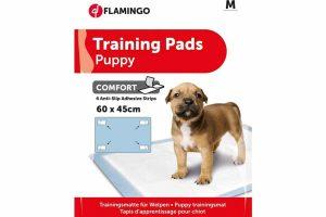 De Flamingo Puppy Training Pads zijn ideaal om te gebruiken voor puppytraining en voor in transportboxen. Het zorgt ervoor dat het tapijt of de vloer mooi droog blijft. De pads zijn sneldrogend en voelen zacht aan. Ze bestaan uit 5 lagen, gevuld met water en absorberende gel.