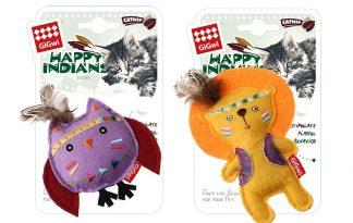 De GiGwi Happy Indians Kattenkruidknuffel is de nieuwe beste vriend van jouw kat! Het kattenkruid zorgt ervoor dat de knuffel extra interessant is en daarnaast zijn ze voorzien van een leuk ontwerp.