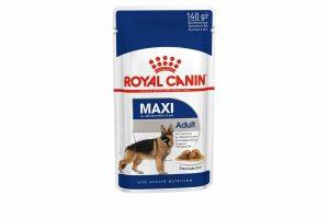 Royal Canin Maxi Adult Wet is natvoeding voor grote honden vanaf 15 maanden tot 8 jaar met een volwassen gewicht van 25 tot 45 kilo. Met de Maxi Adult Wet natvoeding krijgt je hond precies wat nodig is om gezond te blijven.