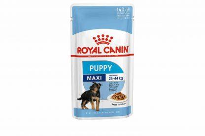 Royal Canin Maxi Puppy Wet is natvoeding voor puppy's van grote honden tot 15 maanden met een volwassen gewicht van 25 tot 45 kilo. De Maxi Puppy Wet is speciaal ontwikkeld om de groei van je pup in de eerste 15 maanden te ondersteunen.