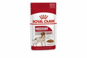 Royal Canin Medium Adult Wet is natvoeding voor middelgrote honden vanaf 12 maanden tot 10 jaar met een volwassen gewicht van 10 tot 25 kilo. De natvoeding ondersteunt een gezonde spijsvertering en een evenwichtige darmflora.