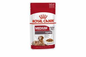 Medium Ageing 10+ Wet is natvoeding voor middelgrote oudere honden vanaf 10 jaar met een volwassen gewicht van 10 tot 25 kilo. De natvoeding bevat EPA, DHA en een exclusieve samenstelling aan antioxidanten om vrije radicalen te neutraliseren.