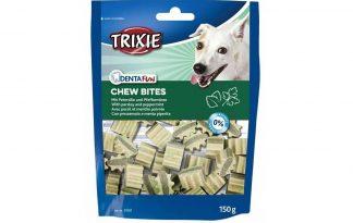 De Trixie Denta Fun Chew Bites zijn een lekkere snack voor je hond. Daarnaast ondersteunen deze kauwsnoepjes de gebitsverzorging en zorgt het voor een frisse adem. Beschermt de tanden en het tandvlees van je hond tegen tandsteen en tandplak.