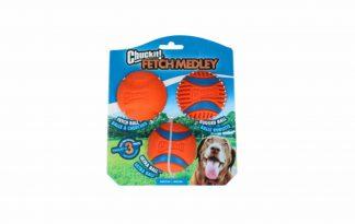 Chuckit Fetch medley Gen3 is een pakket bestaande uit 3 Chuckit ballen met elk een andere eigenschap, buiten de gemeenschappelijke deler STERK en DUURZAAM!!