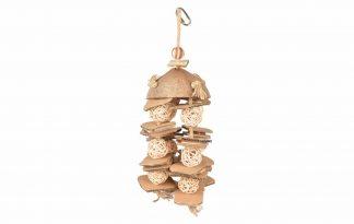 Coconut Jungle hanger Wilgenballetjes zorgt voor urenlang speel -en knabbelplezier voor alle soorten vogels.