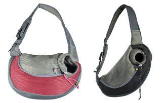 EBI Draagzak Sarah Crazy paws nylon is een moderne draagtas met een comfortabele schouderband.
