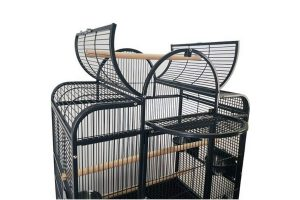 De Original Strong papegaaienkooi Bianca is geschikt voor parkietachtigen of kleine kromsnavels. De kooi is zowel met als zonder onderstel te plaatsen. De bovenkant heeft een mooie welving, daarnaast kan het opengeklapt worden voor een extra zitplaats.