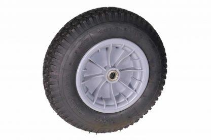 Wiel 400x8 4PLY PVC kogellager asgat 20 mmis voorzien van een degelijke kogellager voor een hoog rijcomfort.