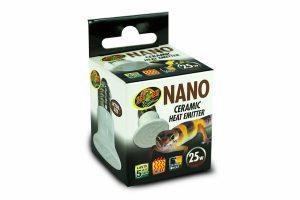 De Nano Ceramic Heat Emitter is een keramische warmtestraler in nano-formaat. De perfecte 24 uurs warmtebron voor alle reptielen. Deze porseleinen verwarmingselementen worden in een standaard porseleinen gloeilampfitting geschroefd.