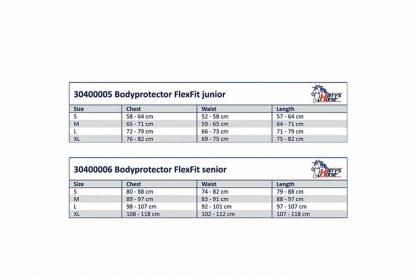Harry's Horse bodyprotector Flexfit junior voldoet aan alle internationale standaards, o.a. norm EN 13158:2009 klasse 3 en BETA2009 level 3 (paars logo). Dit maakt deze bodyprotector geschikt voor alle officiële wedstrijden.