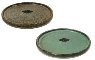 De Jasper eetschaal is gemaakt van keramiek en afgewerkt met een eigentijds glazuur. Met een wanddikte van ongeveer 8 mm kan deze schaal wel tegen een stootje.
