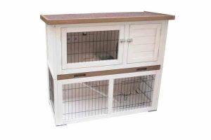 Het Konijnenhok Kiki is een ideaal verblijf voor je konijnen. Het hok bestaat uit een zolder, een ren en een trapje. Het vormt een ruim huis waarin je konijnen kunnen relaxen, spelen en bewegen.