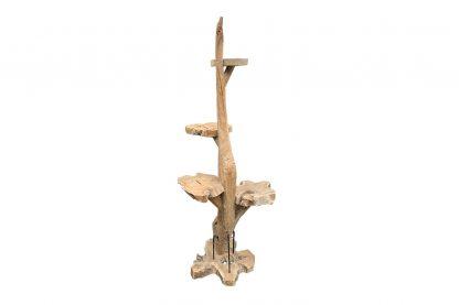De krabpaal van teakhout is zeer duurzaam, en is dus geschikt voor langdurig gebruik. Het natuurlijke uiterlijk past overal bij!