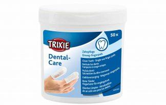 De Trixie Dental-care wegwerp vingerpads zijn geschikt voor gebitsverzorging bij honden, katten en andere kleine huisdieren. De vingerpads zijn voorzien van een reinigingslotion met munt smaak, waardoor je eenvoudig de tanden van jouw huisdier kan poetsen