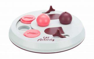 Het Trixie kattendenkspel Flip Board is voorzien van twee kegels en kommetjes met klap- en schuifdeksels. Daag jouw kat mentaal uit met slimme bordspellen!