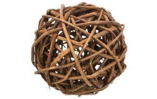 De Trixie Wilgenbal is gemaakt van 100% natuurlijk materiaal en daardoor zeer geschikt als gezonde snack in het dierenverblijf