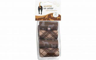 Mr. Poop Scottie poepzakjes zijn makkelijk en stevig in gebruik. Je gaat duurzaam op pad met jouw trouwe viervoeter, doordat de poepzakjes recyclebaar zijn. Daarnaast zijn ze voorzien van een vrolijke design.