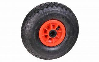 Wiel 300x8 2PLY PVC kogellager 20 mm is voorzien van een degelijke kogellager voor een hoog rijcomfort. Dit wiel wordt compleet geleverd, met zowel een binnenband als buitenband, maar exclusief as.