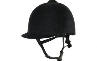 De veiligheidscap fluweel is een traditionele veiligheidscap. De cap voldoet aan de CE/EN0-1384 norm. Uitgevoerd met driepunts kinband, flexibele klep en ventilatiedop. Daarnaast is de cap voorzien van een strikje aan de achterkant.