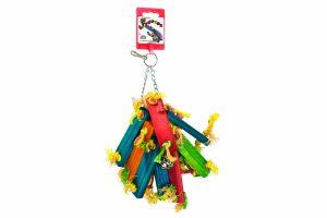 Birrdeez Vogelspeelgoed plankjes met touwtjes
