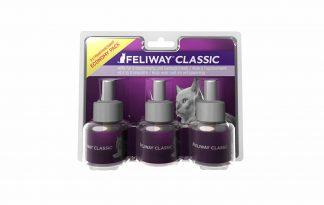De Feliway Classic navulling is geschikt voor de Feliway verdamper en verspreid een geur die gelijkstaat aan het gezichtsferonoom van katten. Dit zorgt ervoor dat ze zich sneller veilig en op het gemak voelen, waardoor ze ook op stressvolle momenten makkelijker rust vinden.