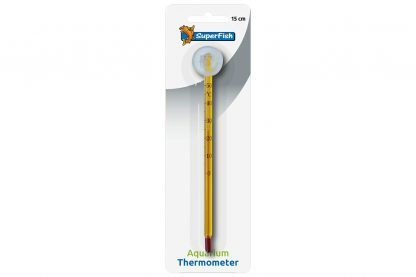 De Superfish Aquarium thermometer is niet alleen duidelijk afleesbaar, maar ook heel nauwkeurig. Daarnaast is de thermometer geschikt voor tropische en zeewateraquaria. Makkelijk op elke plek van het aquarium op te hangen, doordat de thermometer is voorzien van een zuignap.