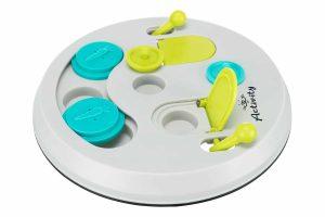 Het Trixie knaagdier bordspel zorgt voor een extra uitdaging, doordat de snacks pas bereikbaar zijn na het openen van de deksels. Zo is het denkspel voorzien van twee schuifdeksels en kommetjes met klapdeksels