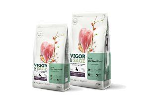 De Vigor & Sage Cat Sterilized Care Poria is gemaakt met hoogwaardige en enkel natuurlijke ingrediënten.