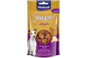 De Vitakraft Jumper's Delights kip & kaas hebben een sterke geur en zijn zeer smakelijk. Extra verfijnd met kip en kaassmaken, waardoor jouw hond er zeker gek op gaat zijn. Ideaal tijdens trainingen of wandelingen!