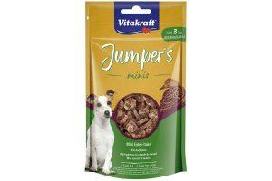 De Vitakraft Jumper's Delight eendenschijfjes zijn een heerlijk en verantwoord tussendoortje voor jouw trouwe viervoeter! Ze zijn zeer smaakvol en laag in calorieën