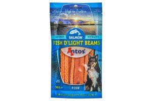 De Antos Fish D'light Beams is een heerlijke hartige hondensnack! De gezonde traktatie is suikervrij en daardoor zeer geschikt om te geven als een tussendoortje. Daarnaast zijn de repen zacht en ook geschikt voor pups.