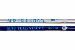 De Acis Tele Stippy is een telescopische hengel is uitermate geschikt voor beginnende vissers of voor gevorderde vissers die niet te veel uit willen geven. De hengel is gemaakt van glasvezel en voorzien van een anti-slip profiel op het handvat voor een goede grip.