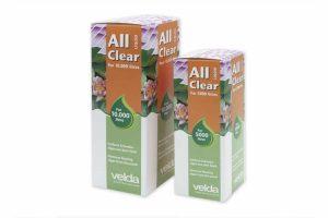 Velda All Clear Liquid is een vloeibare algenbestrijder en is zeer succesvol in het verwijderen van zweefalgen. Algen stellen lage eisen en groeien daardoor ook onder omstandigheden, wanneer microleven en planten zich niet ontwikkelen.