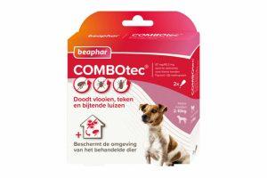 Beaphar Combotec voor honden is een vlooiendruppel met een extra brede werking. Het doodt niet alleen vlooien, maar ook teken en bijtende luizen. Daarnaast beschermt het ook de omgeving van het behandelde dier, waardoor je de ontwikkeling van eieren, larven en poppen tegengaat!
